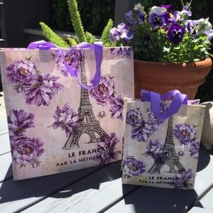 TokyoMilk Market Tote Bags Set of 2 French Kiss